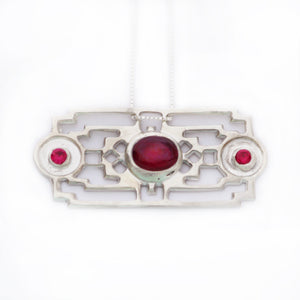 Elation Square Red Pendant
