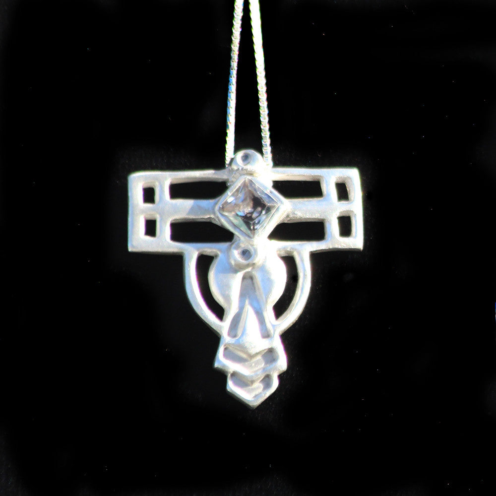 Elation Square Clear Pendant