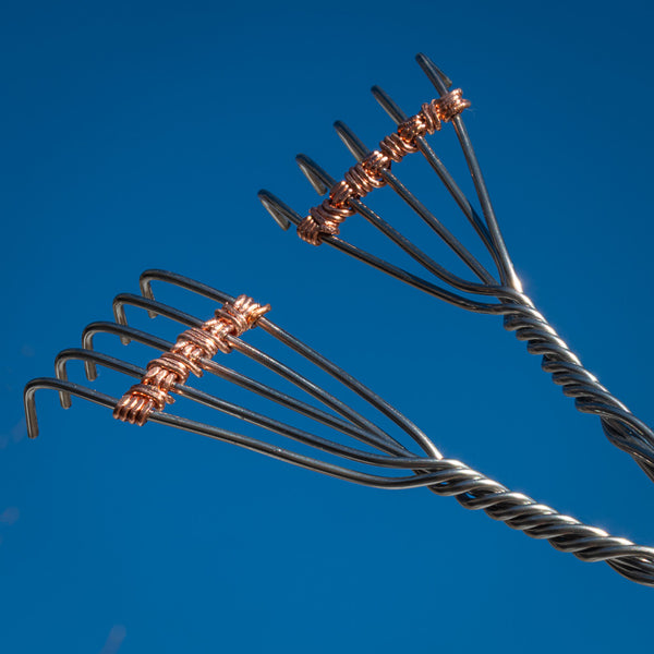 Two Fingers back scratchers value package, stainless steel for a lifetime of itch relief