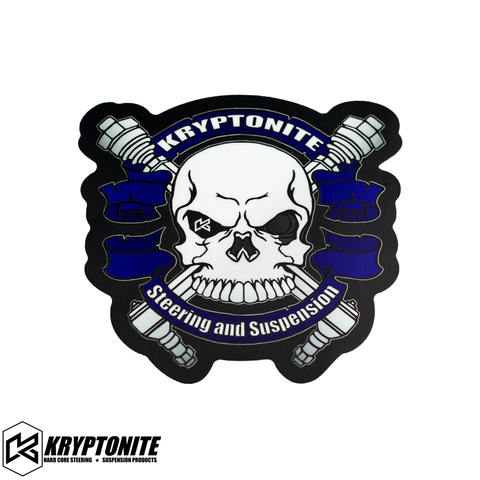 KRYPTONITE BLUE SKULL STICKER