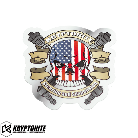 KRYPTONITE PATRIOT SKULL STICKER