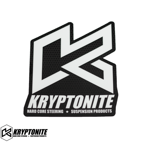 "KRYPTONITE CARBON ""K"" STICKER"