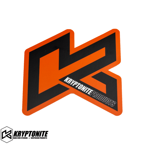 "KRYPTONITE ORANGE ""K"" STICKER"