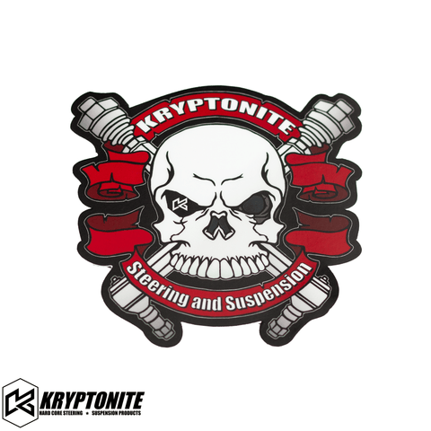 KRYPTONITE RED SKULL STICKER