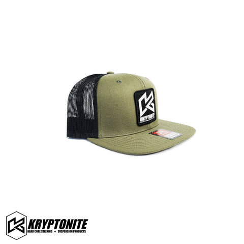 KRYPTONITE OLIVE GREEN PATCH HAT