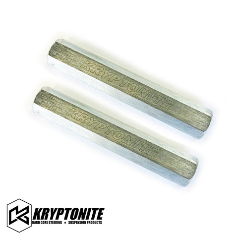 KRYPTONITE SOLID STEEL TIE ROD SLEEVES ZINC PLATED 2001-2010