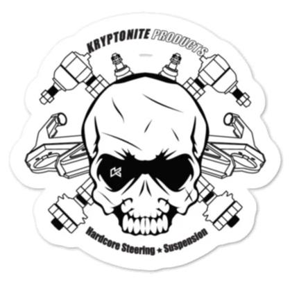 KRYPTONITE ANGRY SKULL STICKER