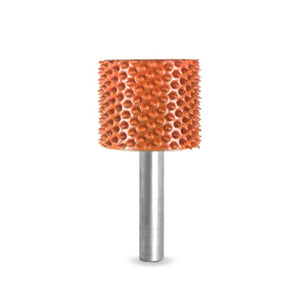 "1/4"" Shank Cylinder Safe End 1"" (Ex-Coarse Grit) Orange 14C1SE"