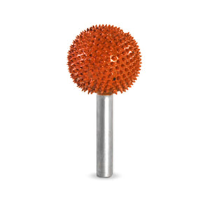 "1/4"" Shank Sphere 1"" ( Ex-Coarse Grit) Orange 14S1"