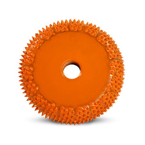 "2"" Buzzout Wheel 1/2"" (Extra Coarse) with 1/4"" Diameter Adapter Shaft Orange BZ21290"