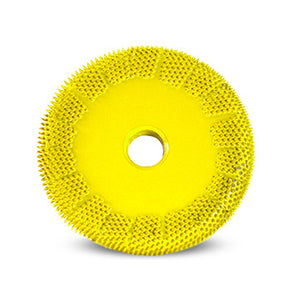 "2"" Buzzout Wheel 1/4"" (Fine Grit) Adapter included 1/4"" shaft Yellow BZ21450"