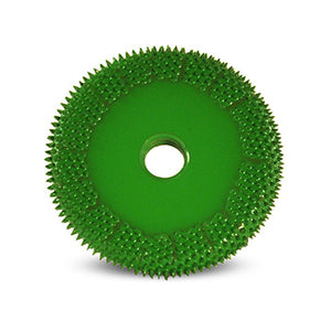 "2"" Buzzout Wheel 1/4"" (Coarse Grit) Adapter included 1/4"" shaft Green BZ21470"