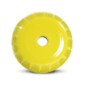 "2"" Buzzout Wheel 3/4"" (Fine Grit) with 1/4"" Diameter Adapter Shaft Yellow BZ23450"