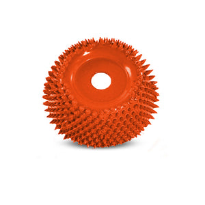 "2"" Power Carving Cup Rasp (Ex-Coarse Grit) with 1/4"" Diameter Adapter Shaft Orange CR2125"