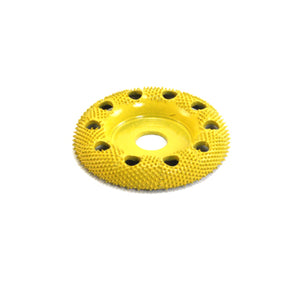 "2"" Donut Wheel Round Face W/ Holes (Fine Grit) Yellow DW250H"