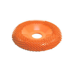 "4"" Donut Wheel Round Face (Ex-Coarse Grit) 7/8"" Bore Orange DW4125"