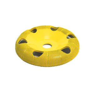 "4"" Donut Wheel W/ Holes Round Face (Fine Grit) 5/8"" Bore Yellow DW450H"