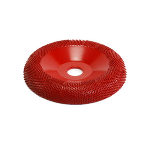 "4"" Donut Wheel Round Face (Medium Grit) 5/8"" Bore Red DW470"