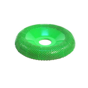 "4"" Donut Wheel Round Face (Coarse Grit) 7/8"" Bore Green DW490"