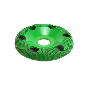 "4"" Donut Wheel W/ Holes Round Face (Coarse Grit) 7/8"" Bore Green DW490H"