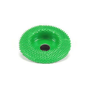 "2"" Disc Wheel Flat Face (Coarse Grit) with 1/4"" Diameter Adapter Shaft Green SD270"