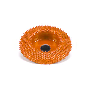 "2"" Disc Wheel Flat Face (Ex-Coarse Grit) with 1/4"" Diameter Adapter Shaft Orange SD290"