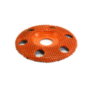 "4"" Disc Wheel W/ Holes Flat Face (Ex-Coarse Grit) 7/8"" Bore Orange SD4125H"