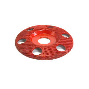 "4"" Disc Wheel W/ Holes Flat Face (Medium Grit) 7/8"" Bore Red SD470H"