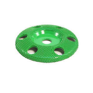 "4"" Disc Wheel W/ Holes Flat Face (Coarse Grit) 5/8"" Bore Green SD490H"