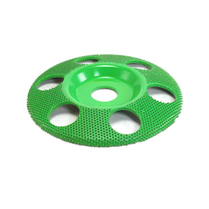 "5"" Disc Wheel Flat Face W/ Holes (Coarse Grit) 7/8"" Bore Green SD590H"