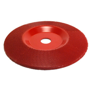 "7"" Disc Wheel Flat Face (Medium Grit) 7/8"" Bore Red SD770"