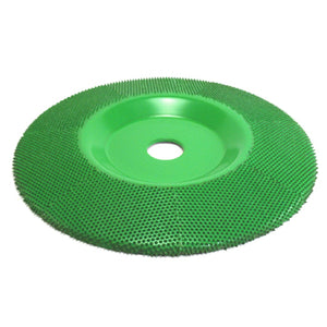 "7"" Disc Wheel Flat Face (Coarse Grit) 7/8"" Bore Green SD790"