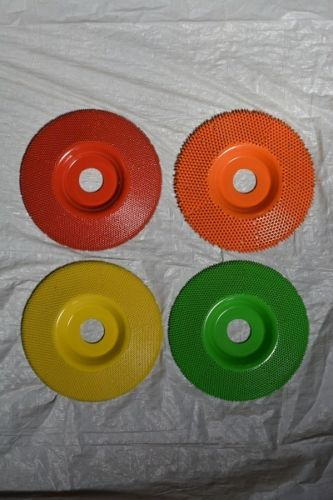 Set of 4 Sanding Discs Flat Face 7/8 Bore 5