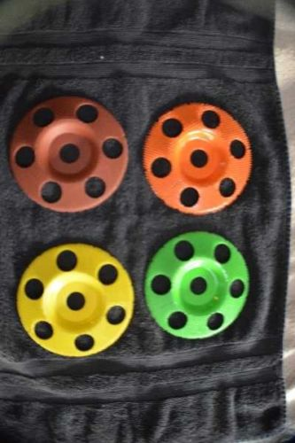 4 Most Useful Set Sanding Wheel Discs 7/8 Shaft Hole 5 inch Diameter SD550 SD570 SD590 SD5125