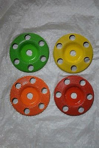 "Set of 4 Sanding Discs W/Holes 5/8 Bore 4"" Diameter SD450 SD470 SD490 SD4125"