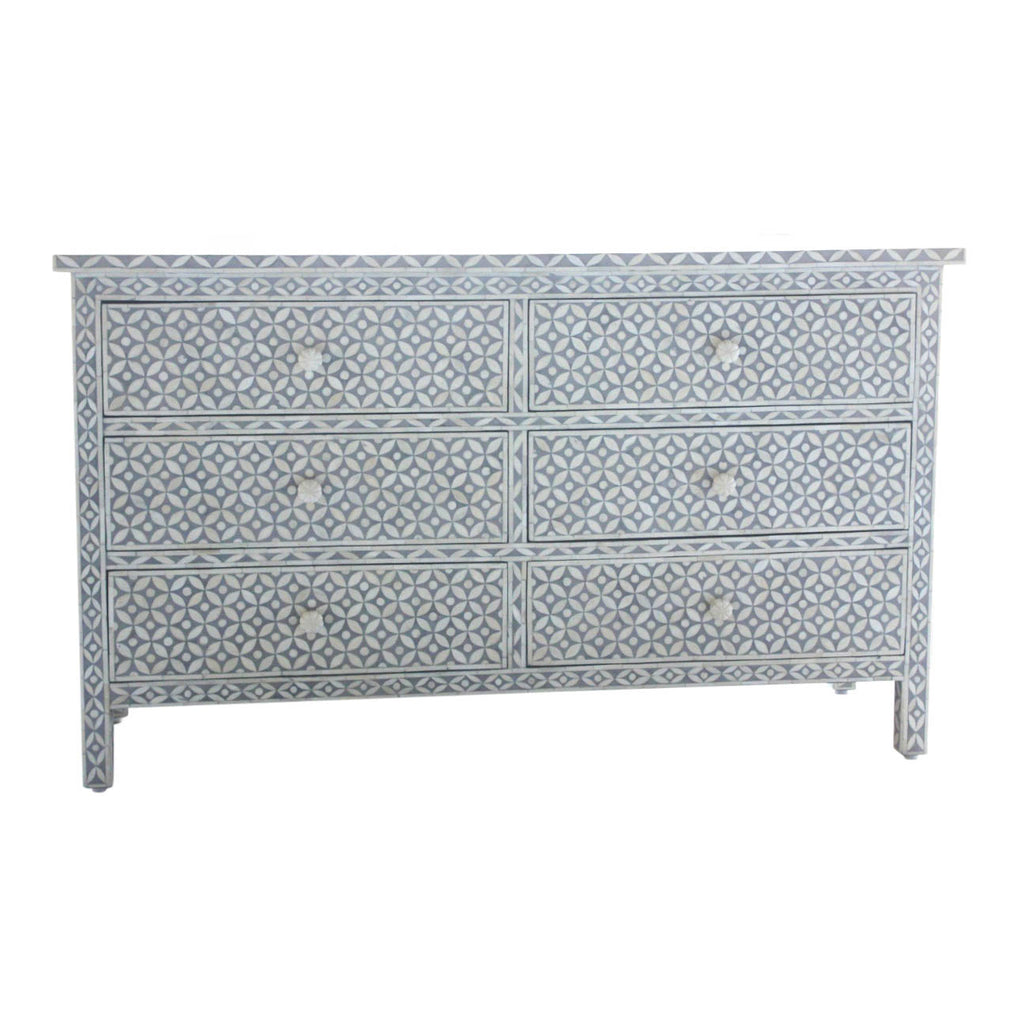 Bone Inlay Chest of Drawers Extra Large