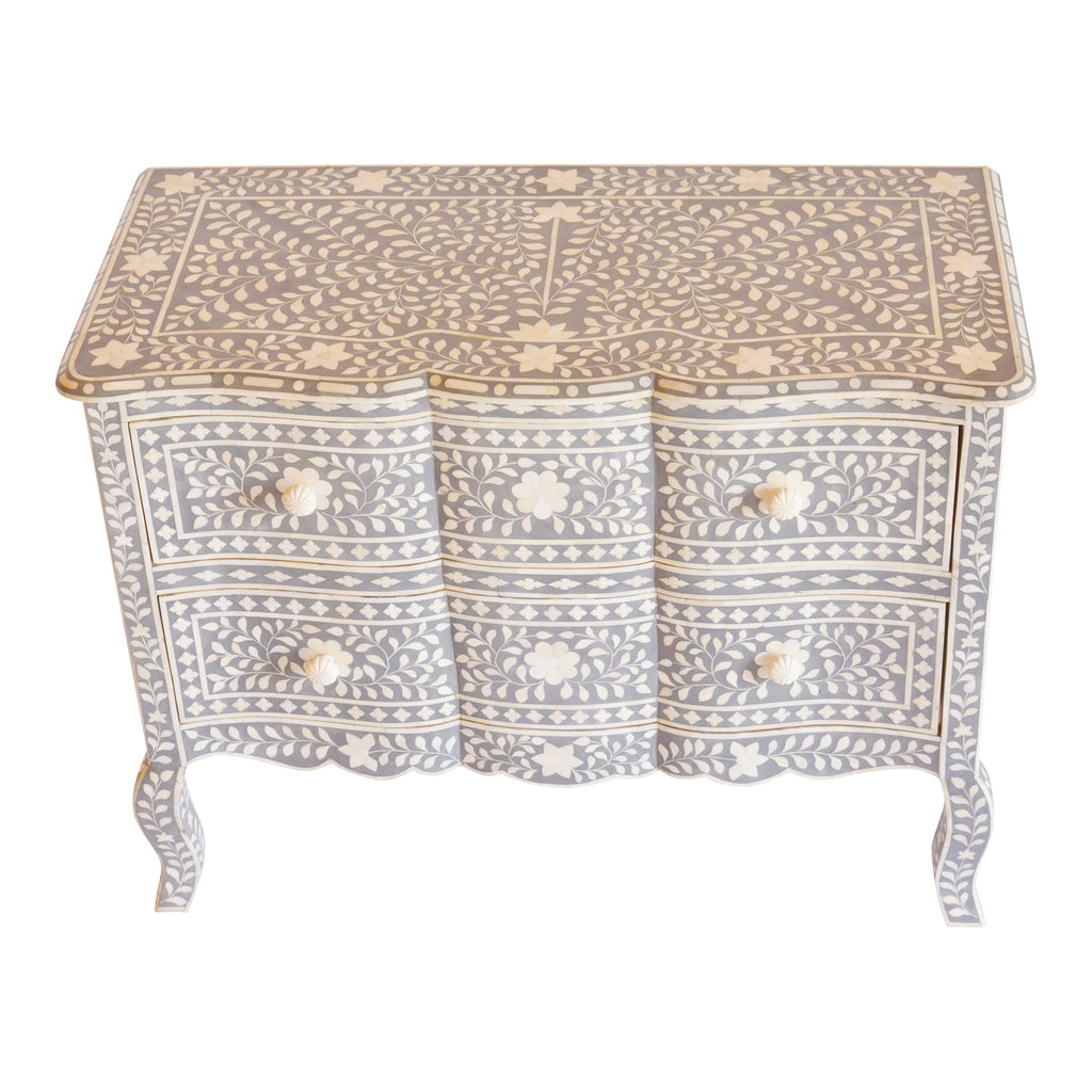 Bone Inlay French Chest in Grey