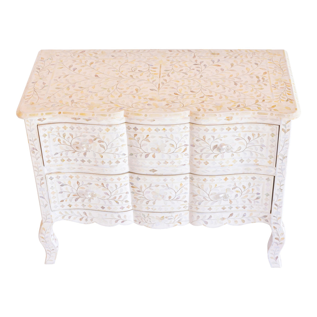 French Chest in white mother of pearl