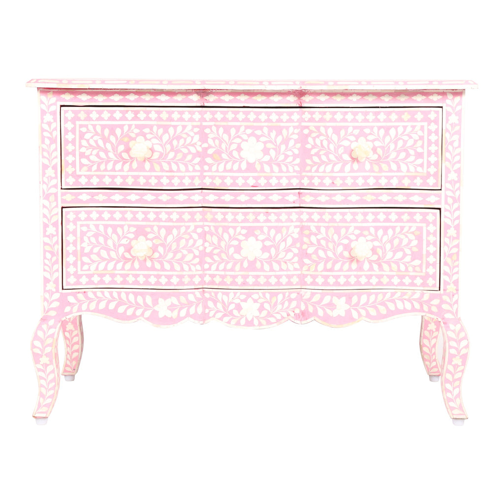 Bone Inlay French Drawers in baby pink