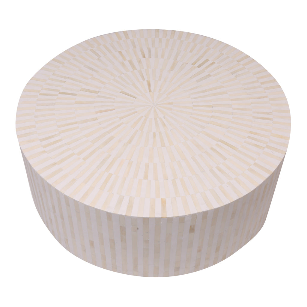 Bone Inly Coffee Table In White Stripe