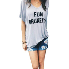 Fun Brunette Smart Blonde Slouchy tee