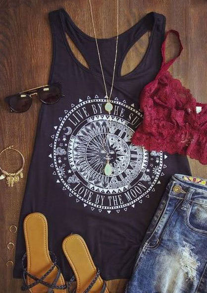 Live By the Sun, Love By the Moon Tank top