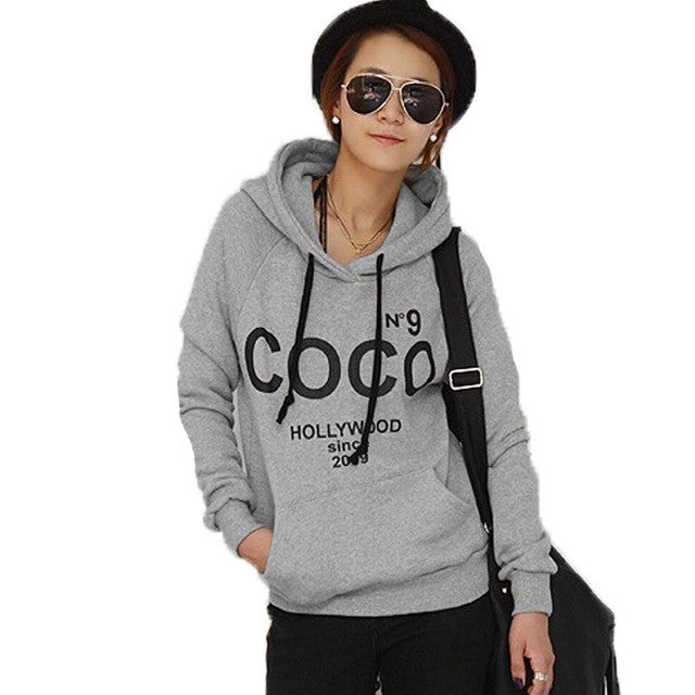 COCO Hollywood Hooded Pullover Tracksuit Polerones Mujer