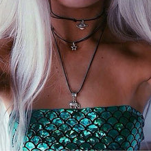 Green Strapless Mermaid Scale Crop Top