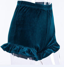 Retro high waisted Velvet Mini Skinny Shorts