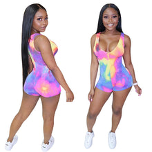 Tie Dye Bodysuit Sleeveless V-neck