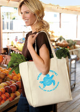 Keep Plastics Out of Our Oceans Over-the-Shoulder Grocery Tote