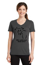 Who Feeds Who Dog Womens T-Shirt