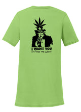 Uncle Sam Want You to Free the Weed!  Womens T-Shirt