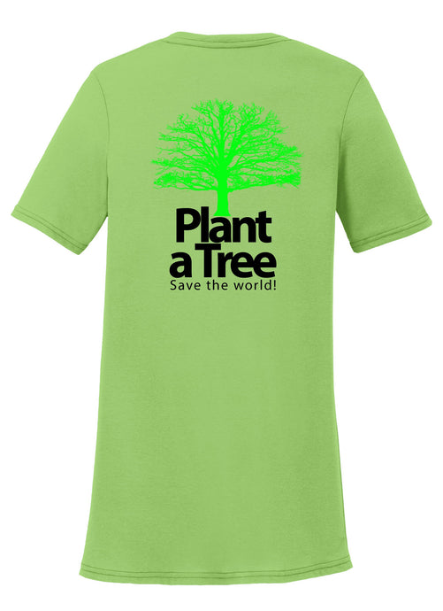 Plant a Tree, Save the World Womens T-Shirt